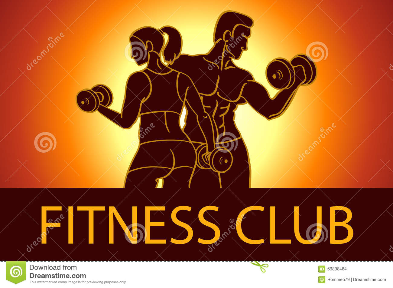 Man and woman fitness template gym club logotype sport for Gimnasio fitness club