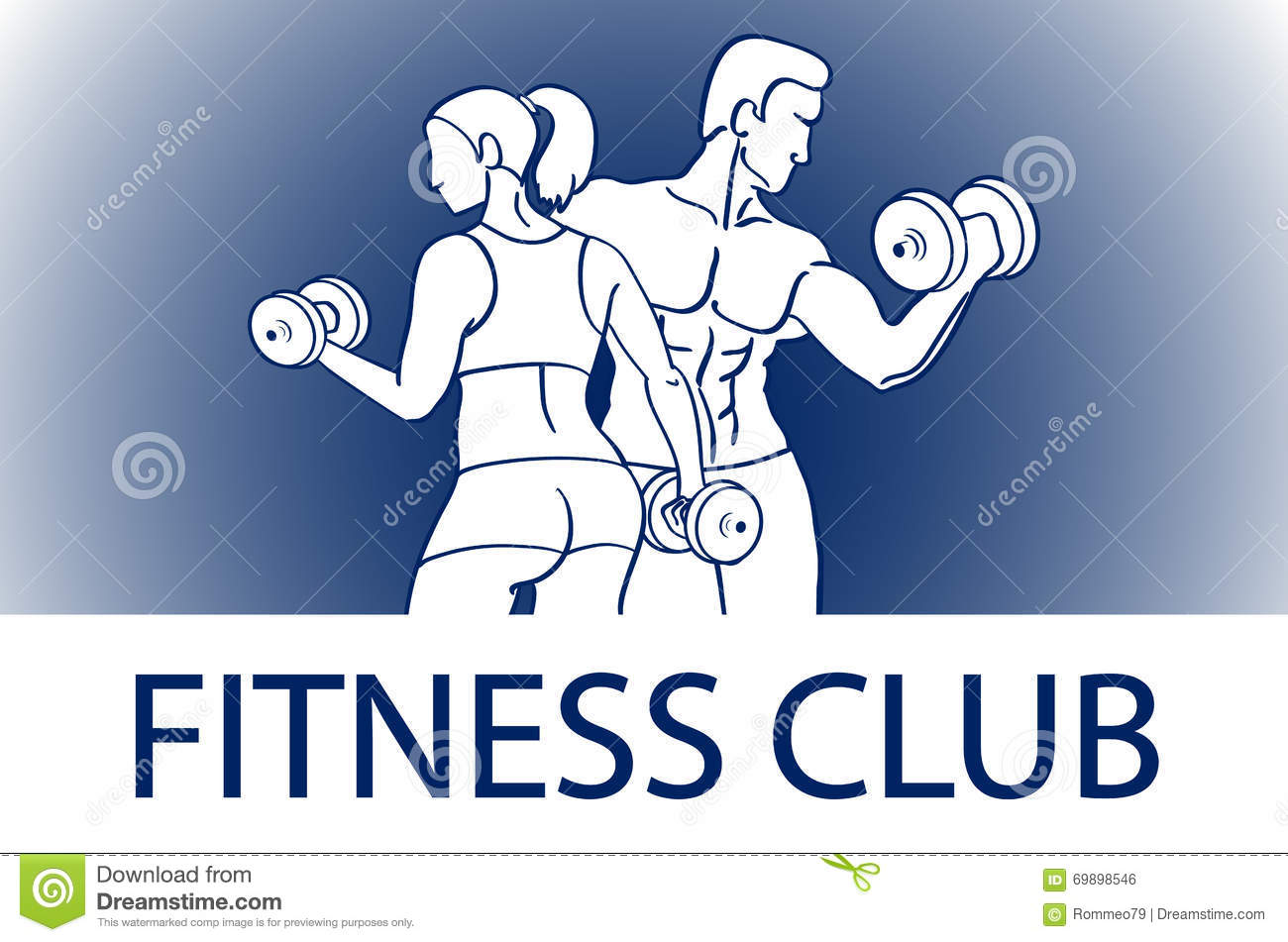 Man and woman fitness template gym club logotype sport for Club piscine sport fitness