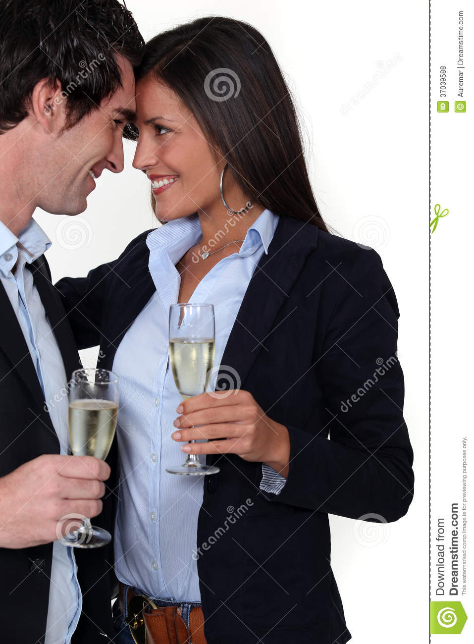 Man and woman flirting stock photo. Image of drink