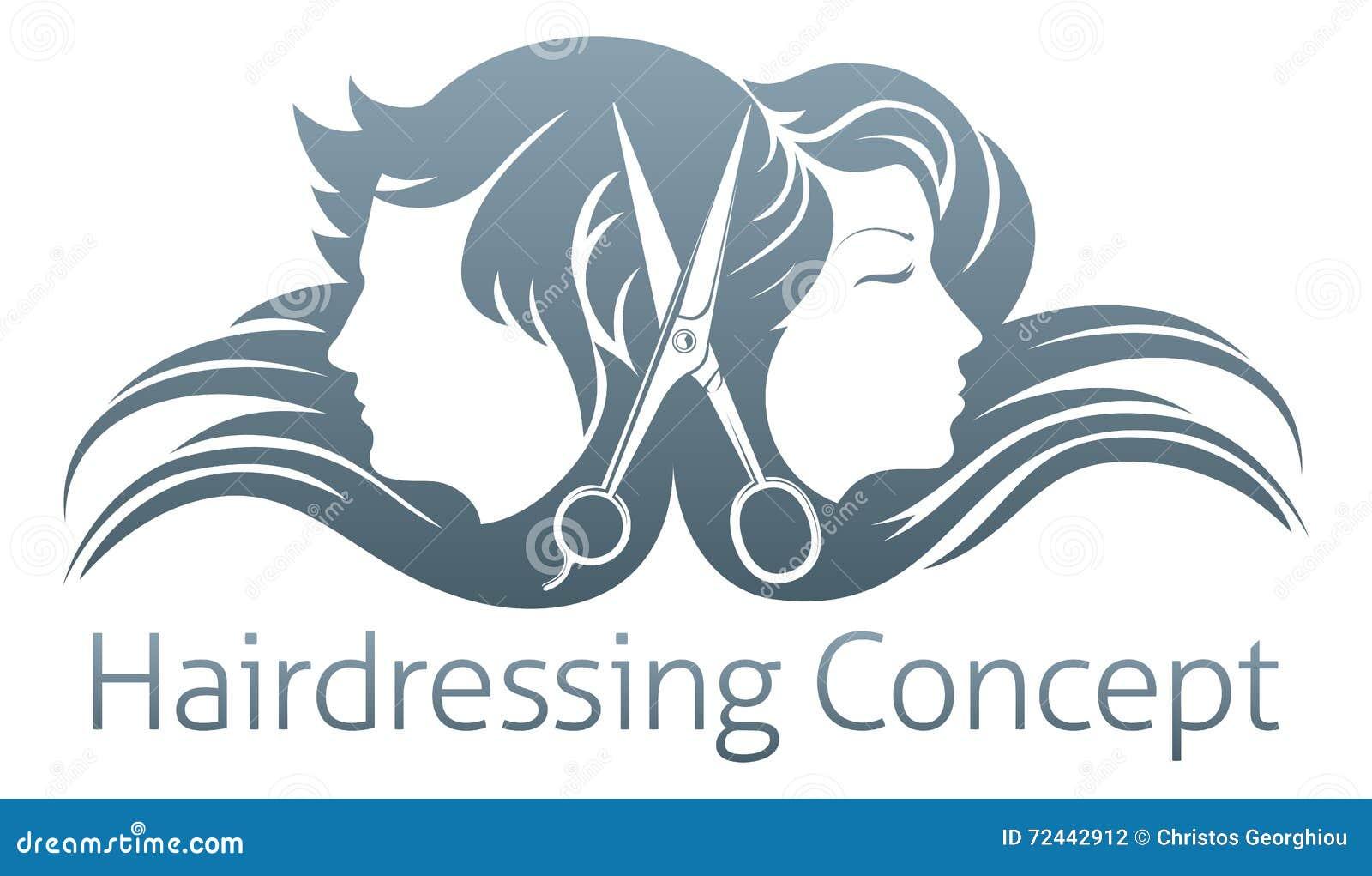 hairdresser woman scissor concept vector illustration