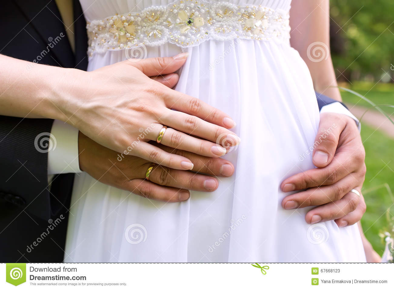 Man And Woman Hands With Wedding Ring Stock Image Image of lovers