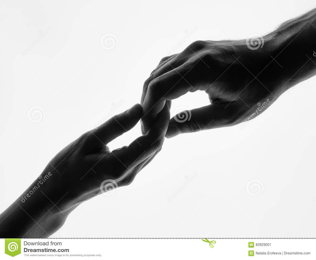 Man woman hold hands silhouette white background couple holding hands closeup black and white