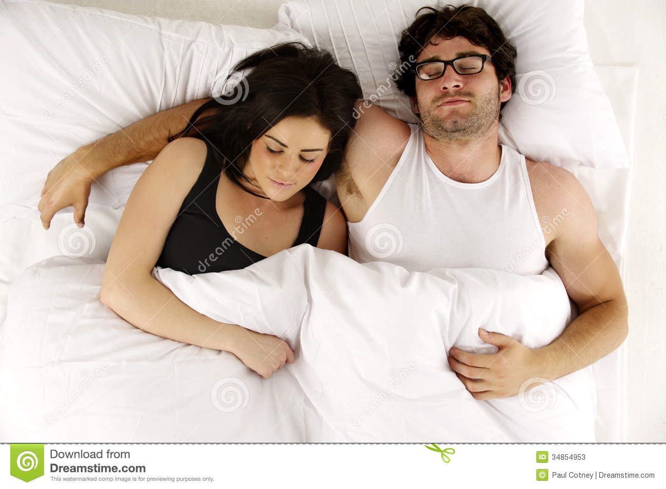 Man And Woman Laid In ...