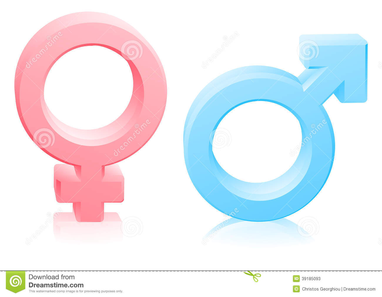 Man and woman, male and female gender sexes signs or symbols in pink ... Superhero Flying Vector