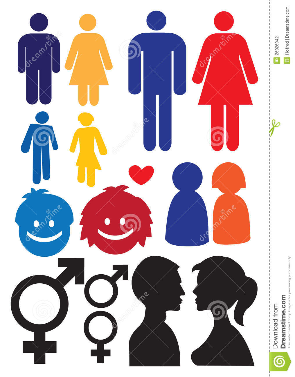 Man And Woman Relationship Symbols Stock Photography