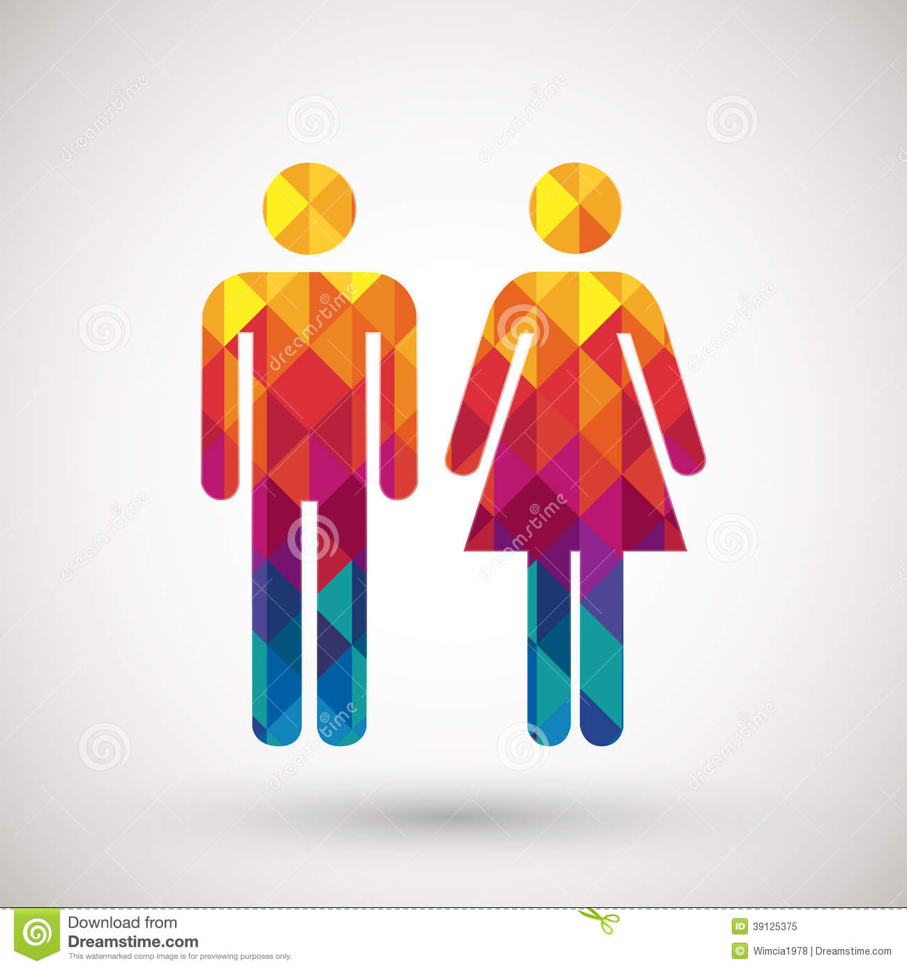 Man   woman restroom sign with colorful diamond Royalty Free Stock Photo. Toilet Sign Man Woman Boy Girl Stock Photos  Images    Pictures
