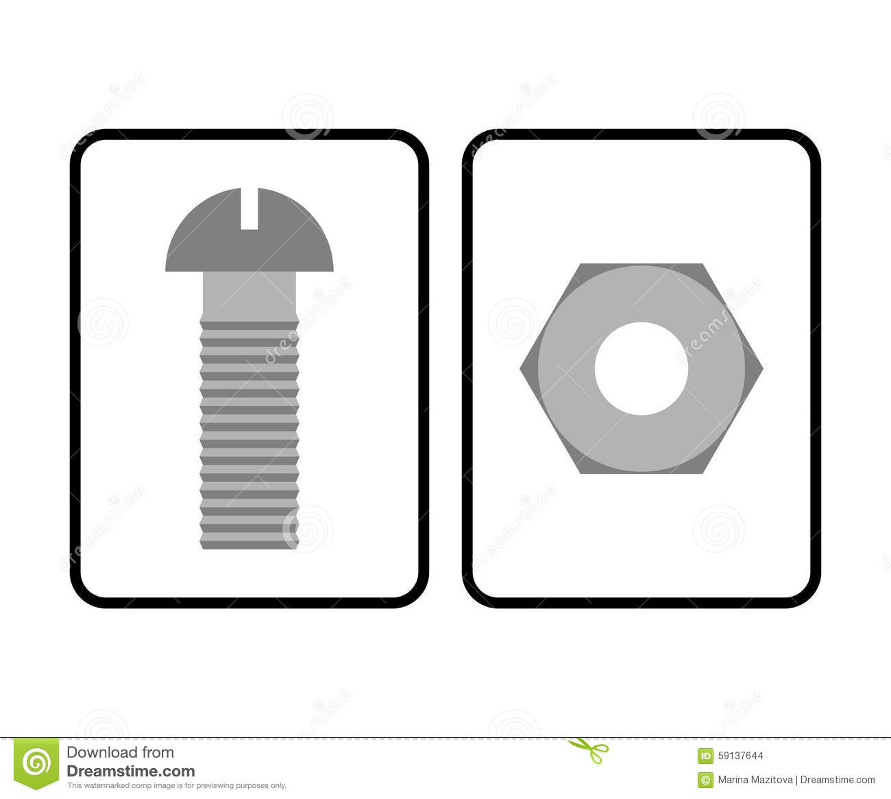 Man And Woman Restroom Sign Toilet Sign Bolt And Nut Humorous Stock Vector Image 59137644