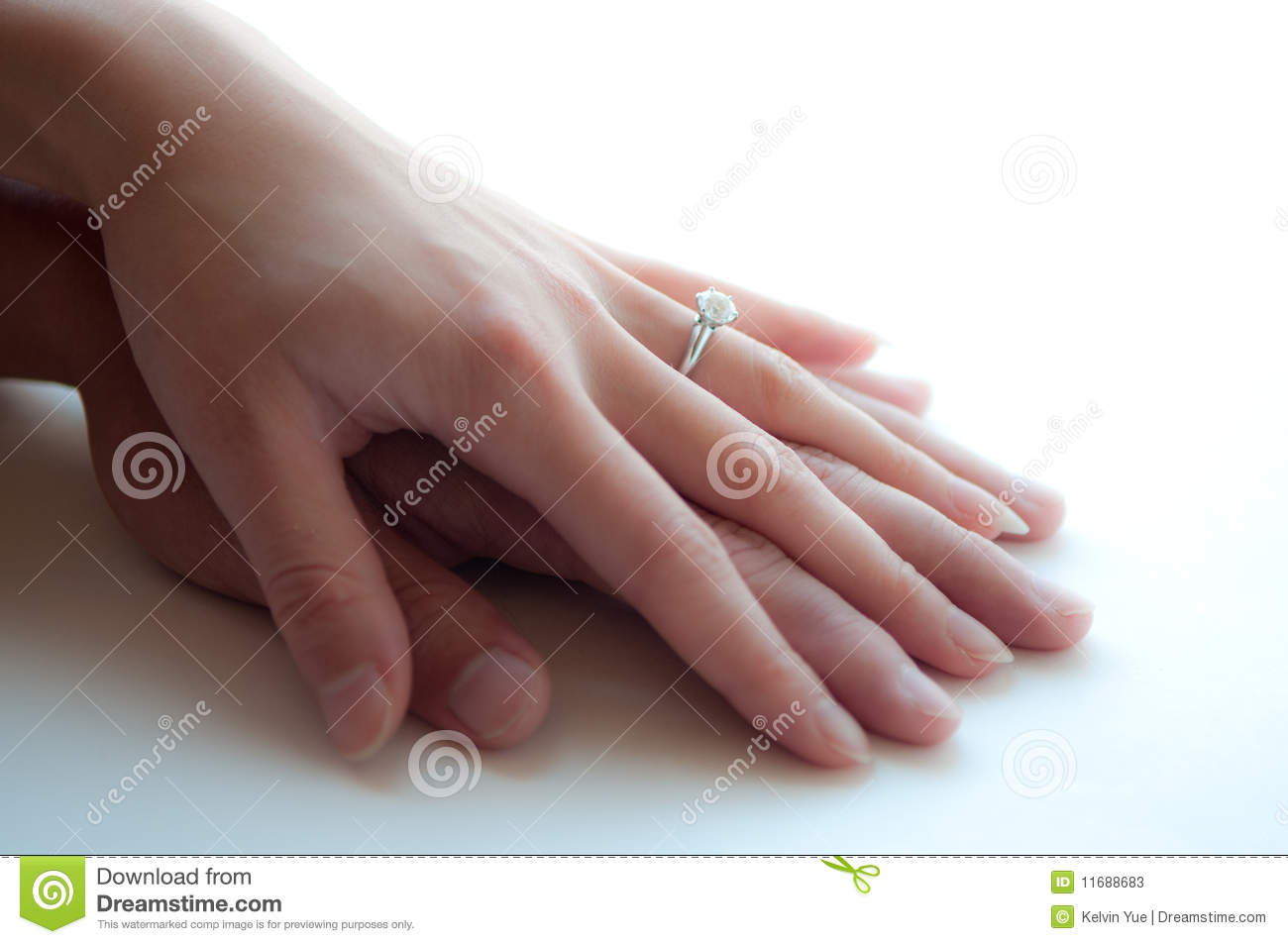 Man And Women Holding Hands Wedding Rings