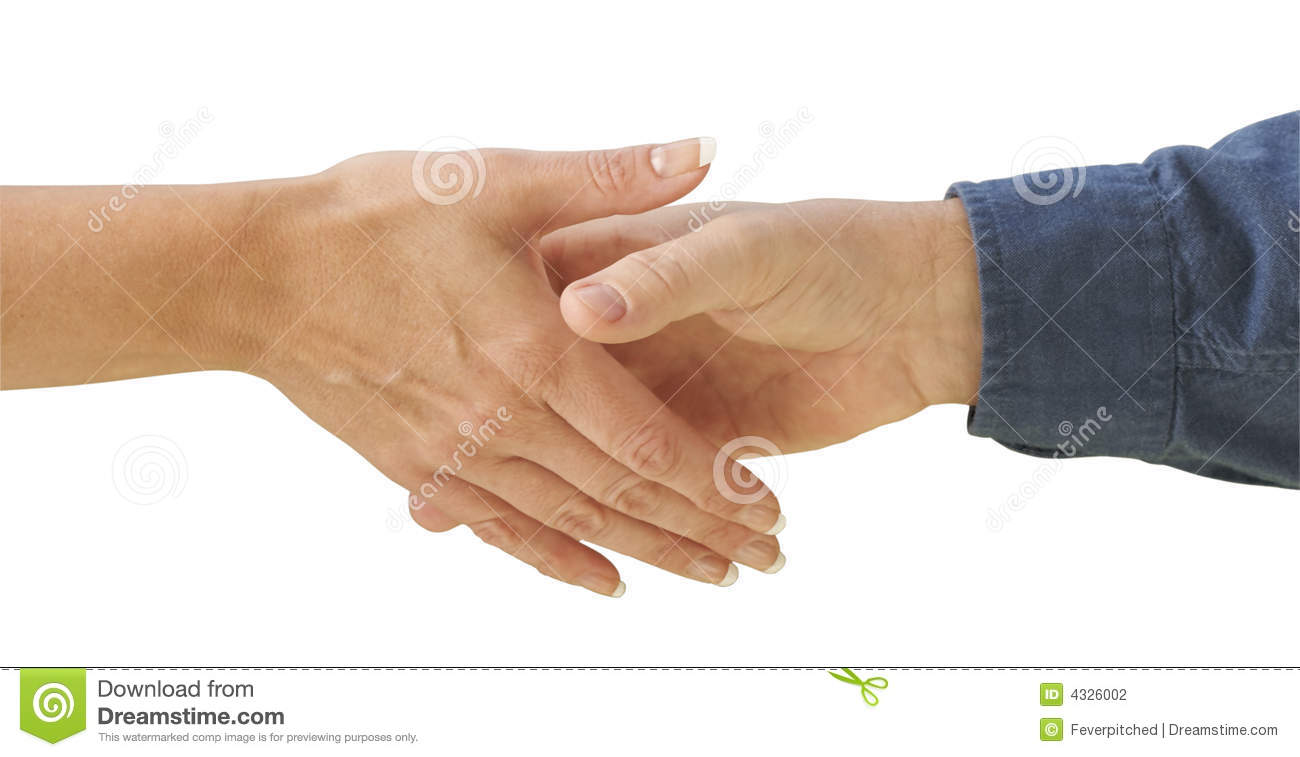 Man And Woman Shaking Hands Stock Photography Image 4326002