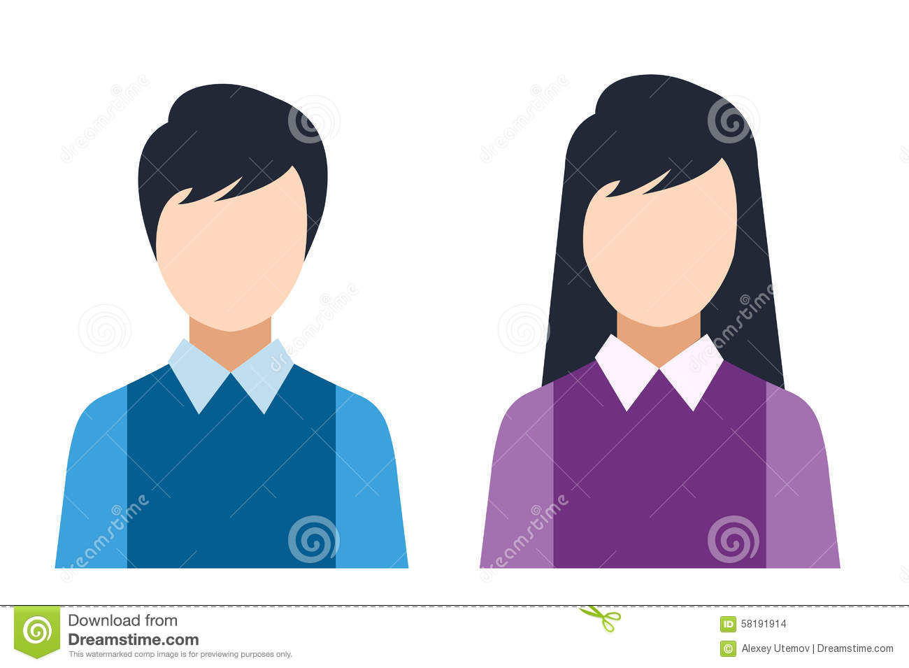 man and woman icon man and woman icons cartoon vector cartoondealer com 1033