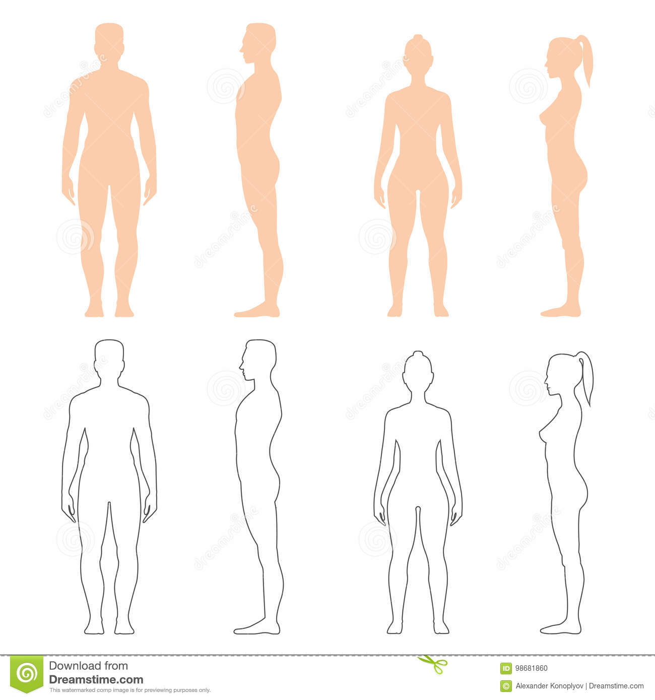 Woman Silhouette Set Stock Images - Download 1,075 Photos
