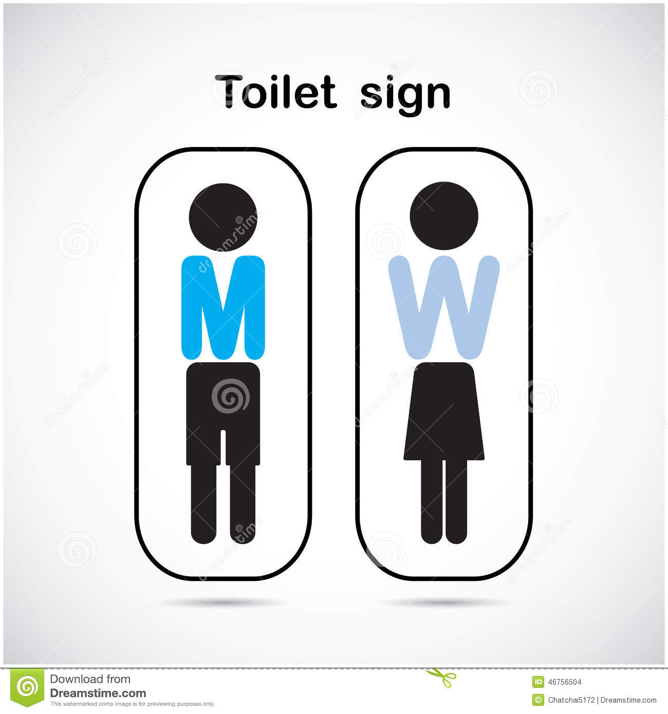 Man And Woman Toilet Sign Restroom Symbol Stock Vector