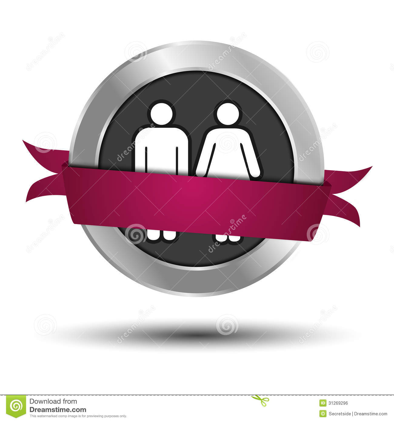 Man And Woman Web Button Royalty Free Stock Image
