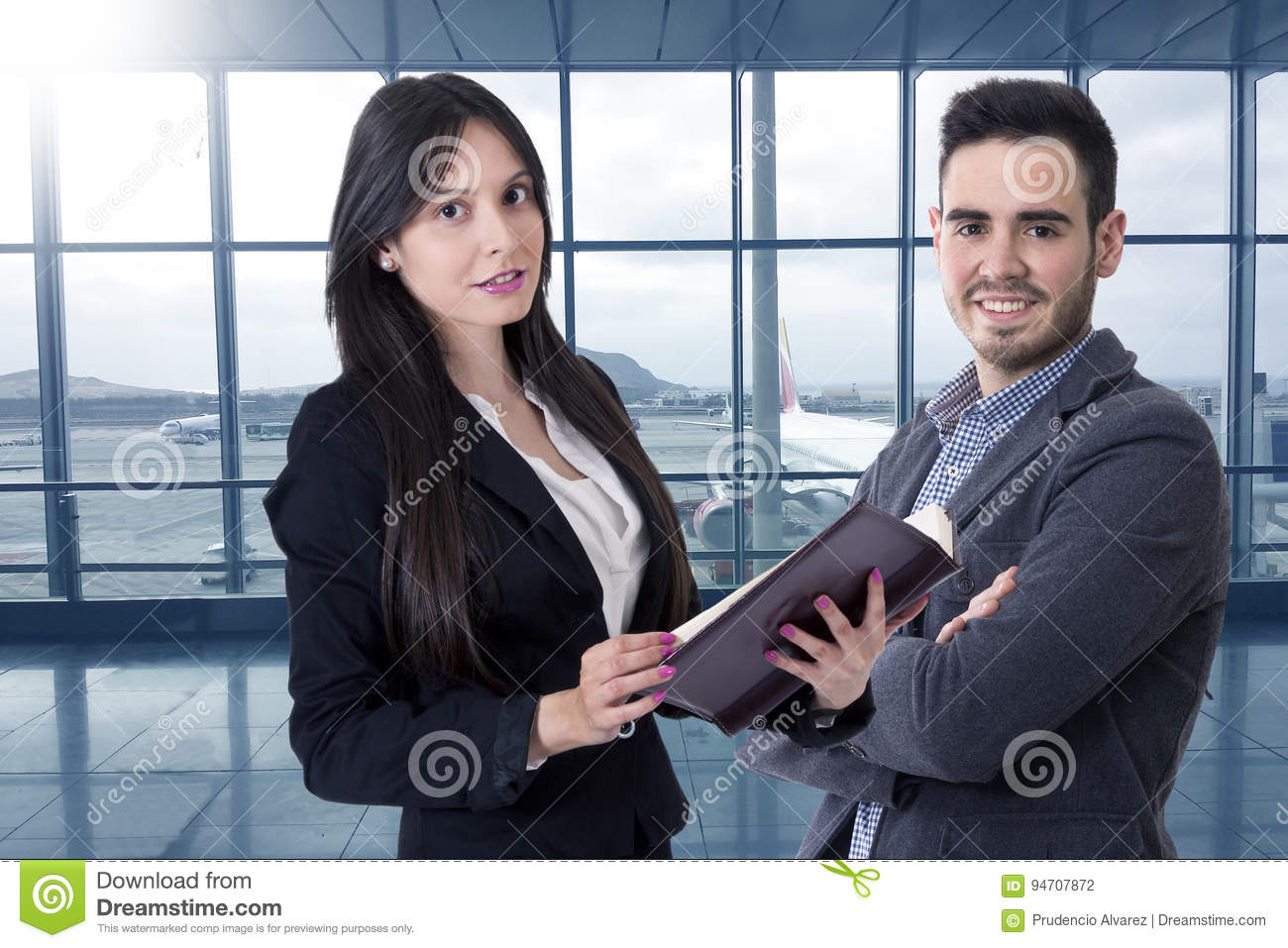 Man and woman of business