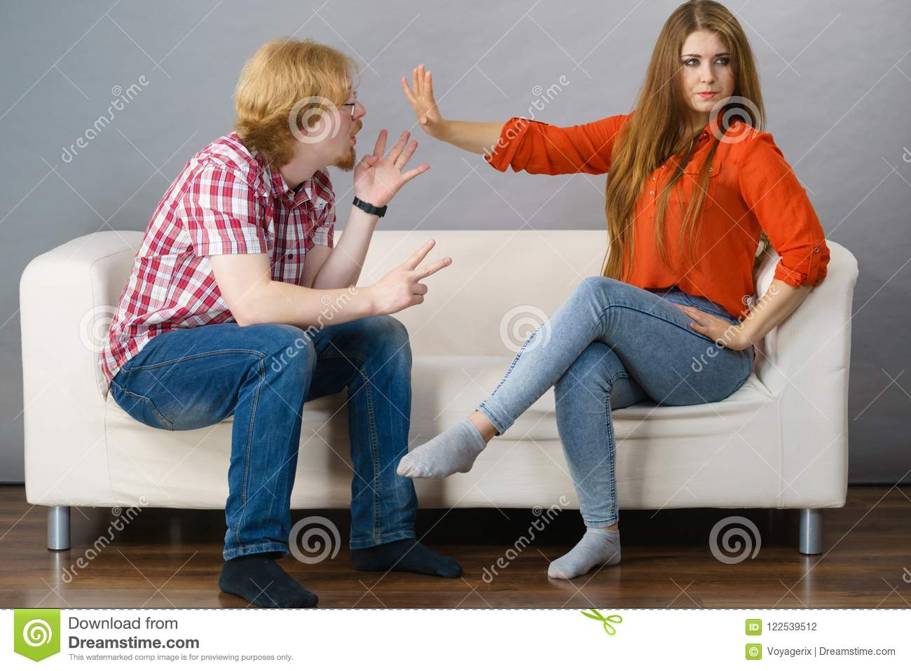 Man and woman having fight stock photo Image of angry