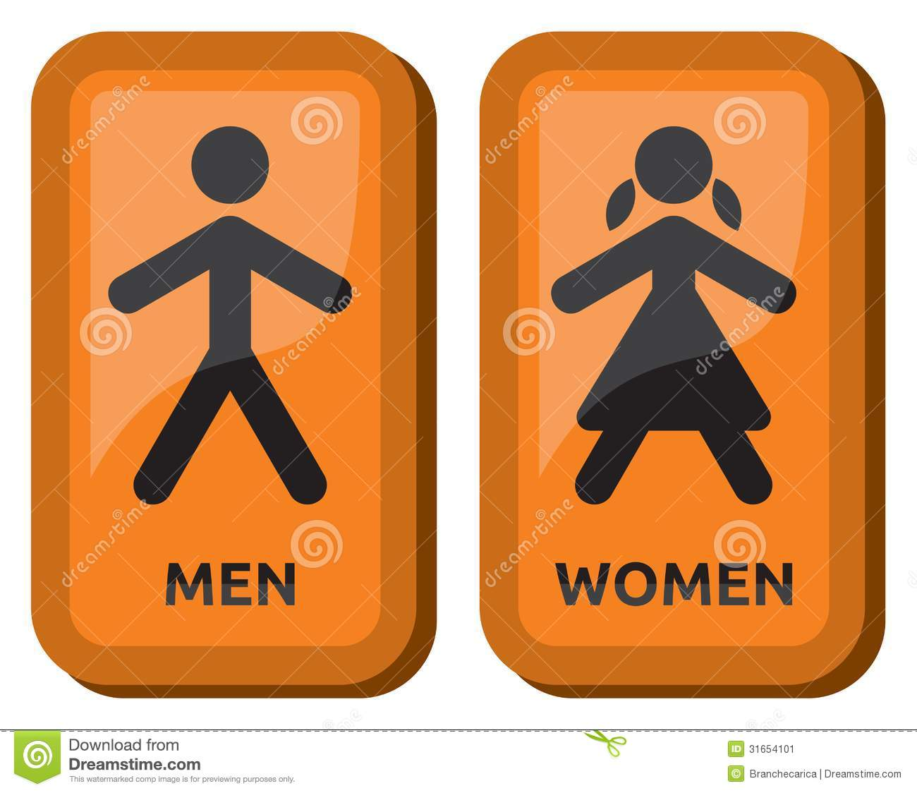Man And Women Restroom Sign Stock Image Image 31654101