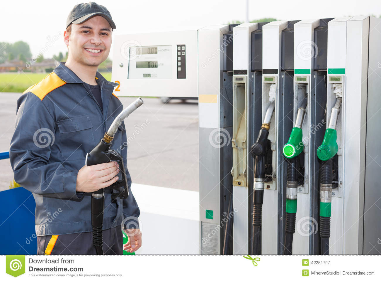 Gas Station Attendant Royalty Free Stock Images - Image: 23973849