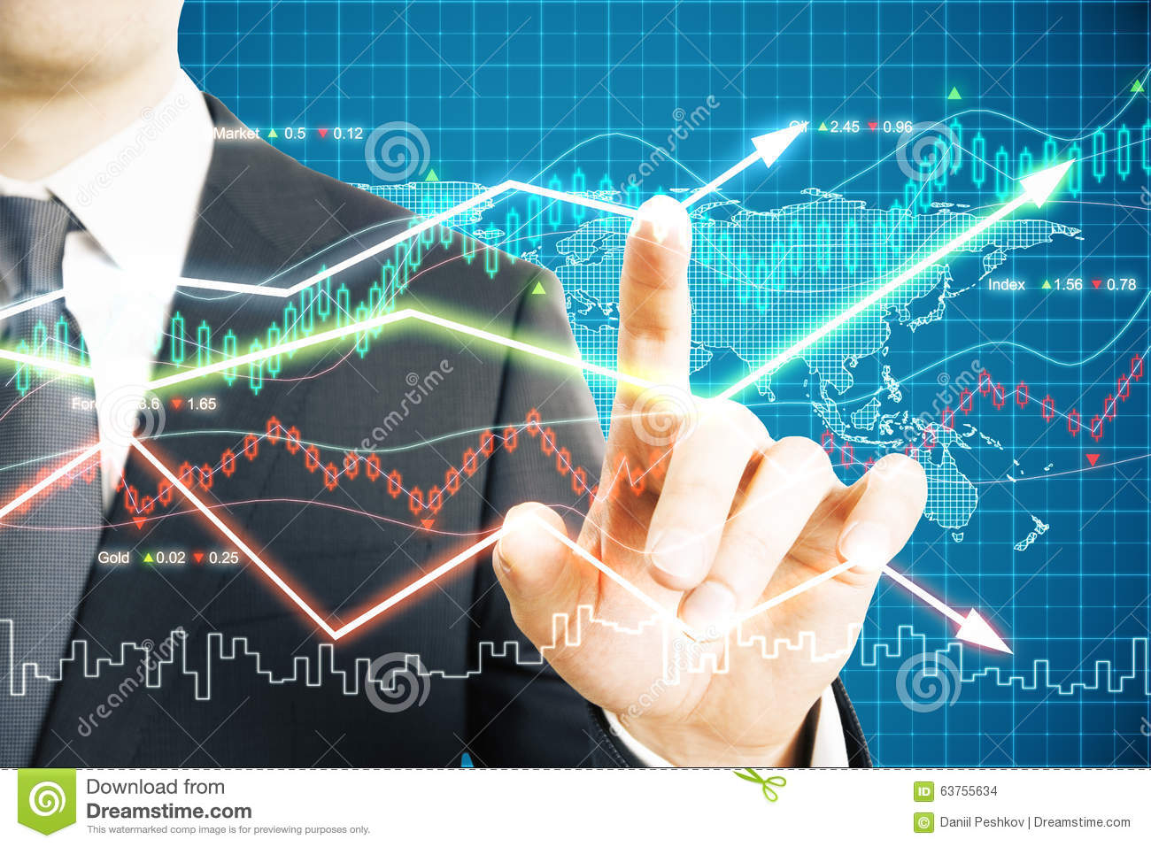 Man Working With Business Chart Scoreboard Stock Photo Image Of Wiring Diagrams