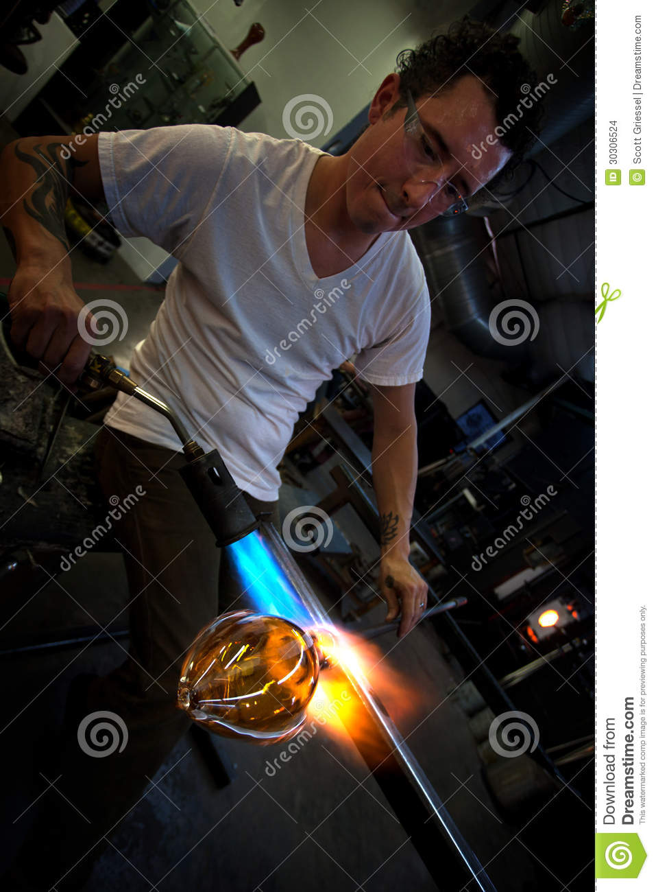 Man creating tattoo royalty free stock photography for Working man tattoo