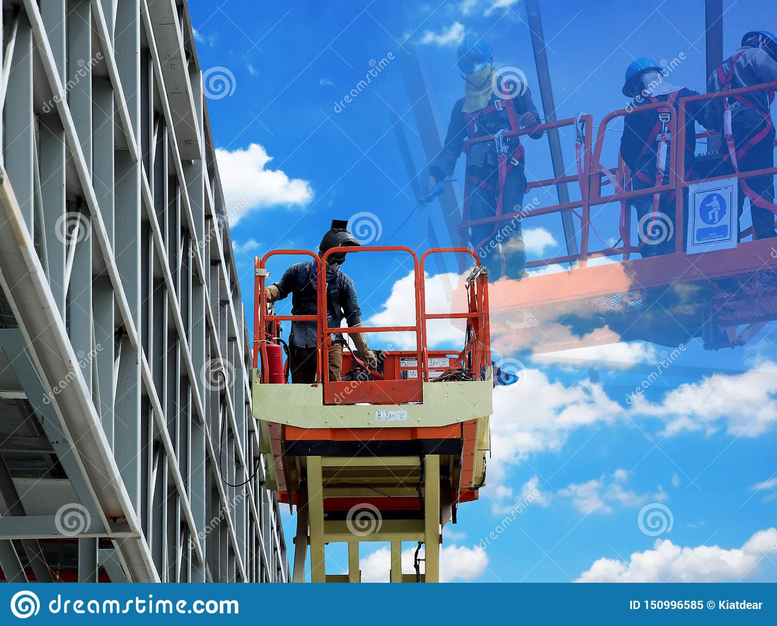 Man Working on the Working at height