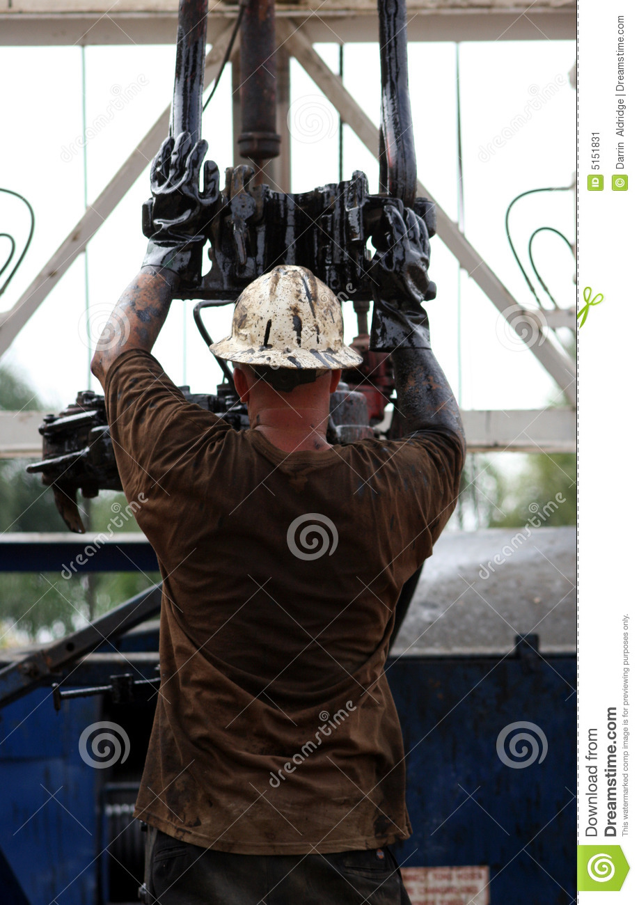 Man Working on Oil Rig