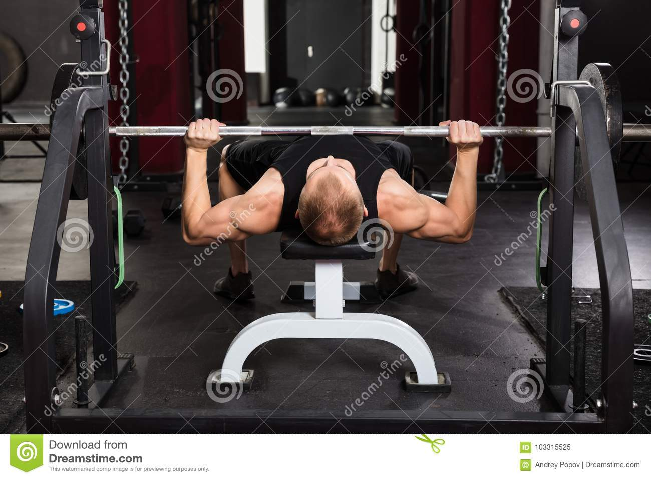 Prime Man Working Out With Barbell Stock Image Image Of Athlete Ibusinesslaw Wood Chair Design Ideas Ibusinesslaworg