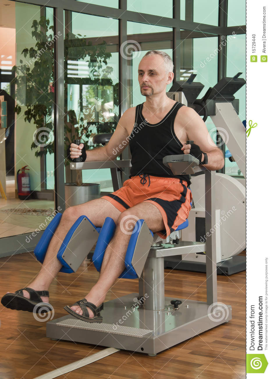 Man Working Out In Gym Stock Photo  Image Of Sport  Center