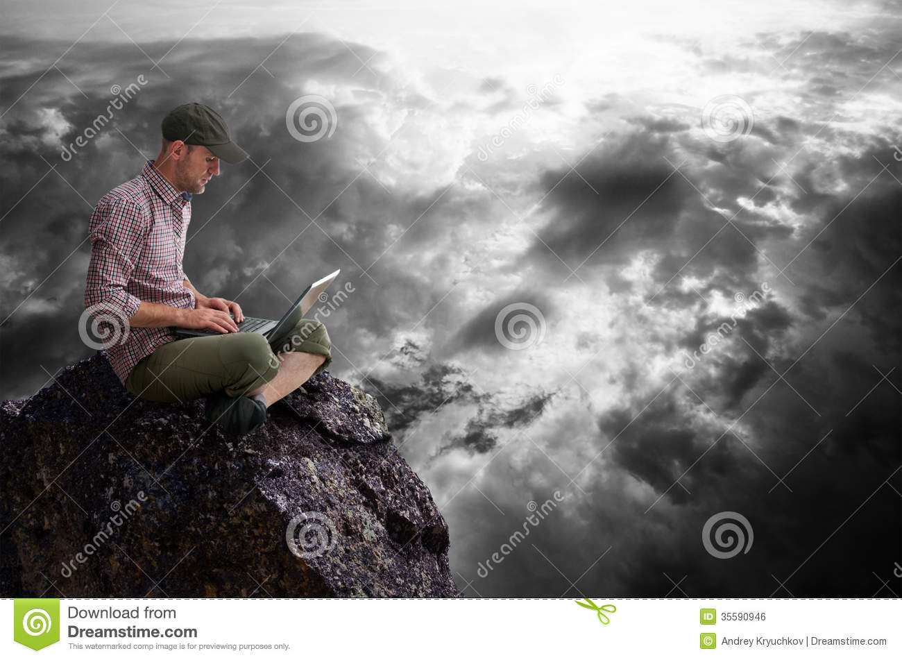Man working outdoors
