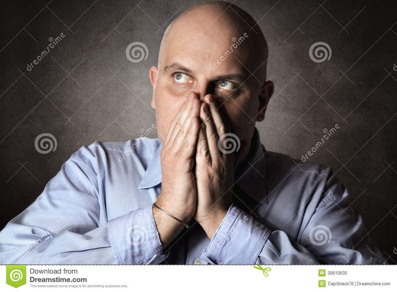 Man With Worried Expression Stock Photo - Image: 30610630