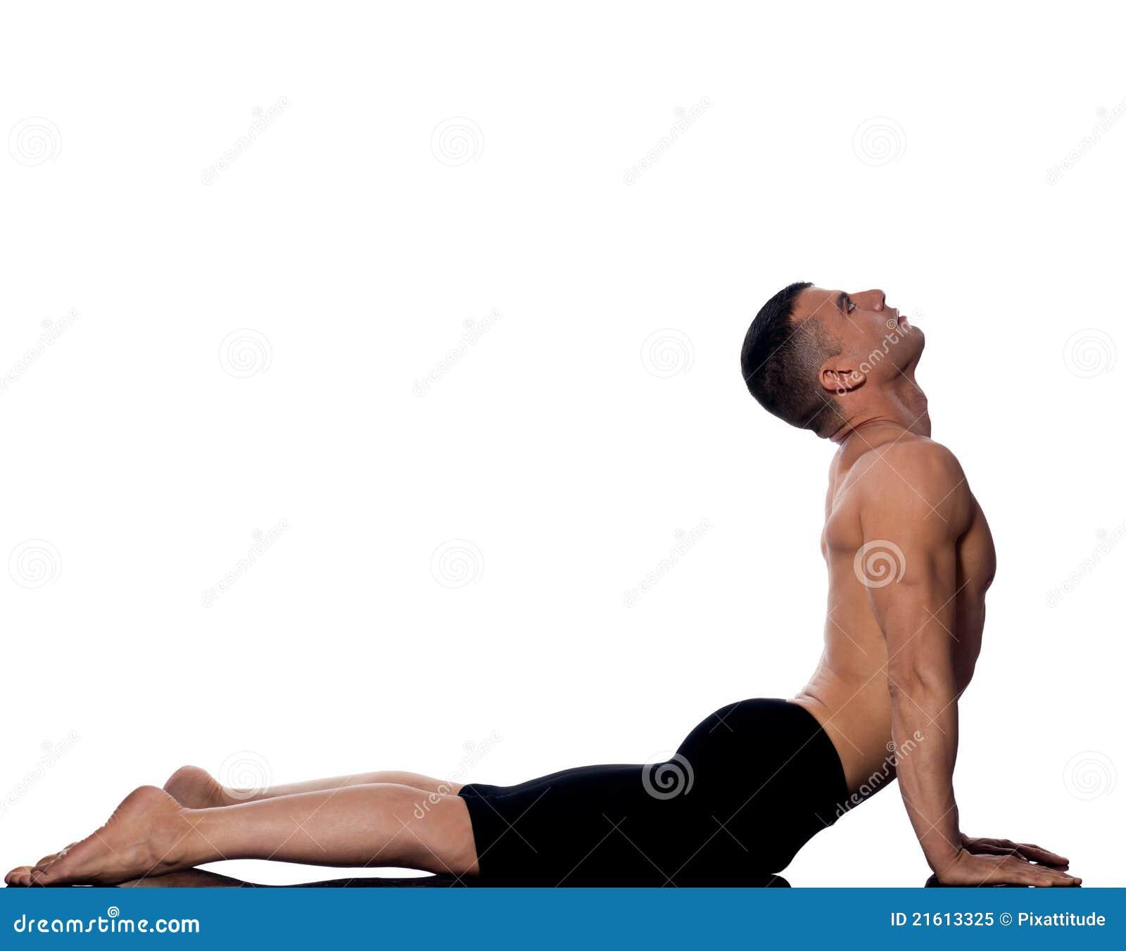 Download Man Yoga Cobra Pose Sun Salutation Surya Namaskar Stock Image