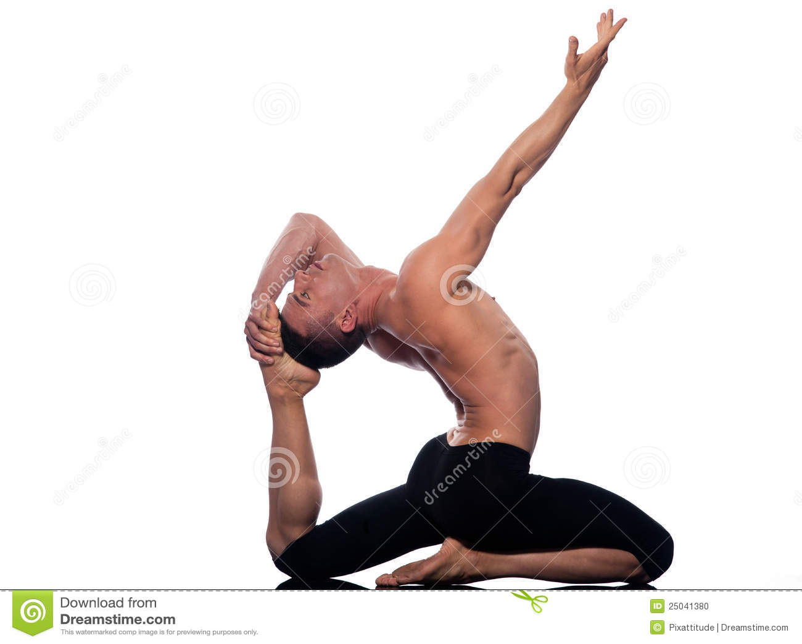 Man Yoga Eka Pada Rajakapotasana King Pigeon Pose