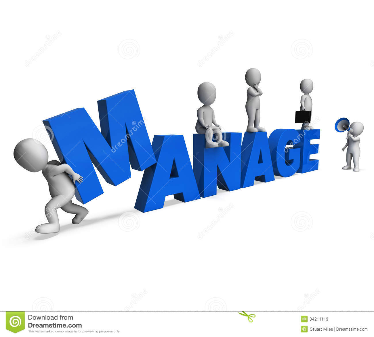 Manage Characters Shows Managing Management And Leadership Stock ...