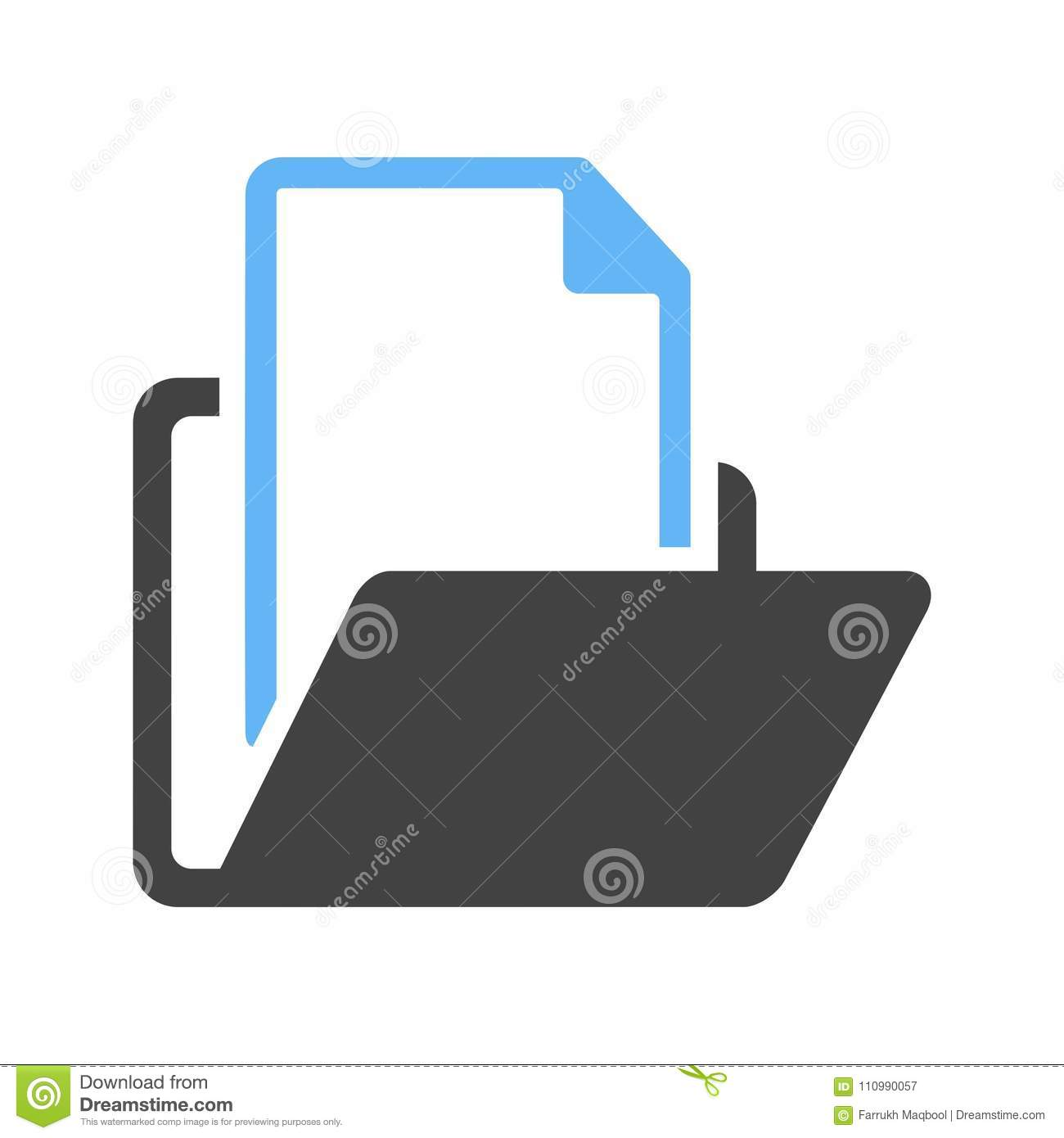 File Manager Icon stock vector  Illustration of design