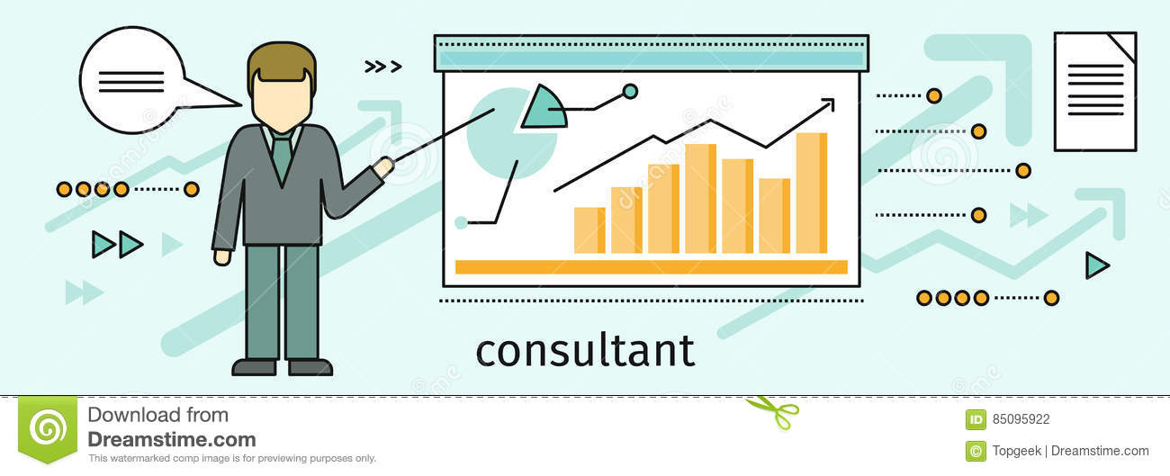 Management Consulting Banner Stock Vector - Illustration ...