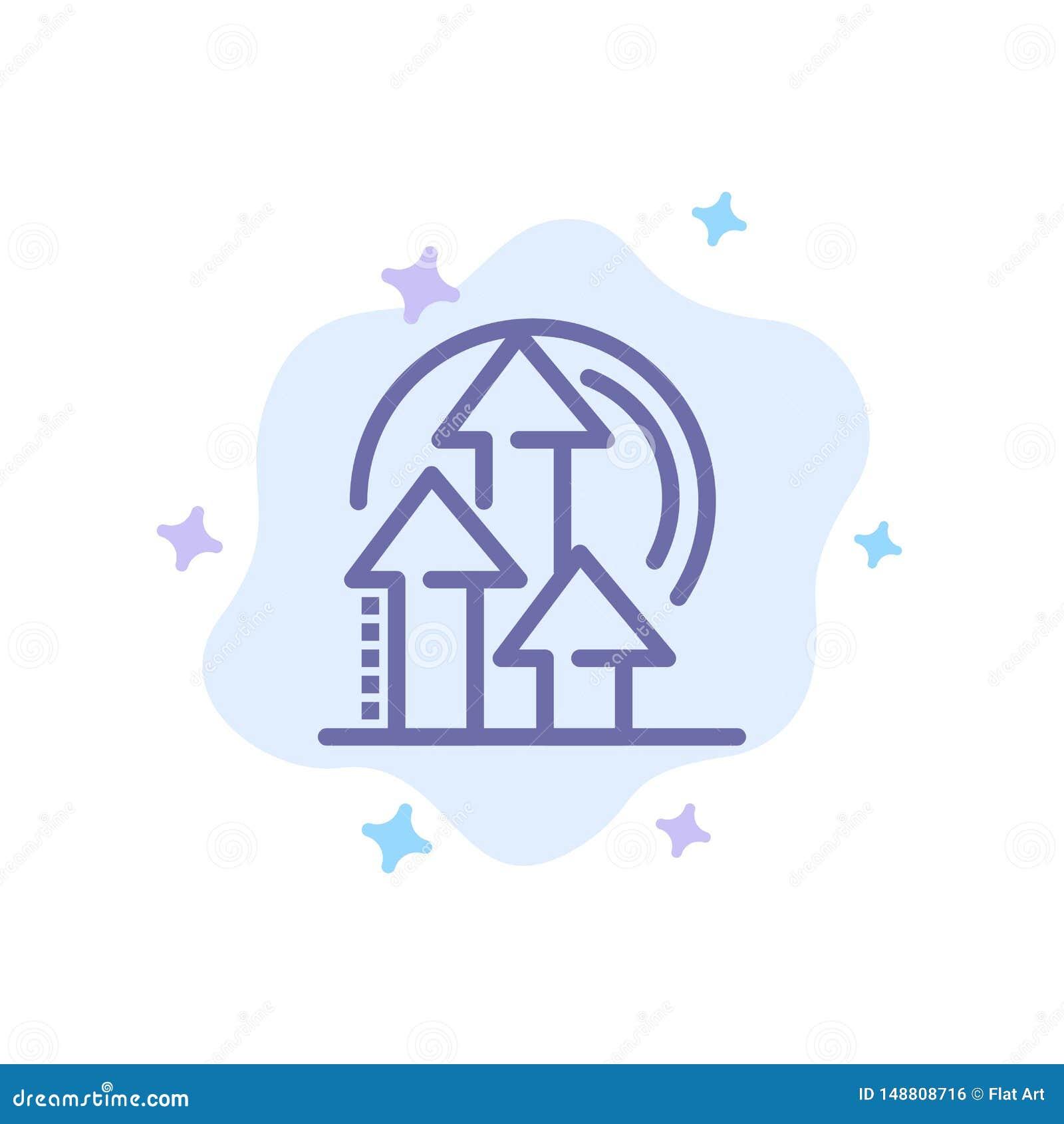 Management, Methode, Leistung, Produkt-blaue Ikone auf abstraktem Wolken-Hintergrund