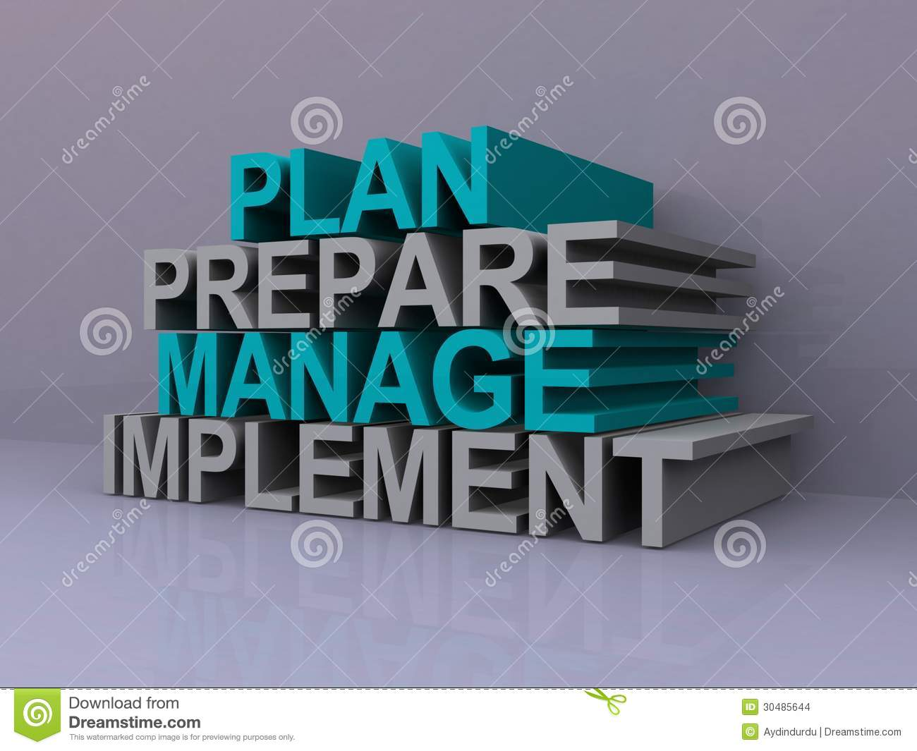 Slogans or action buzz words for strategic management, including plan ...
