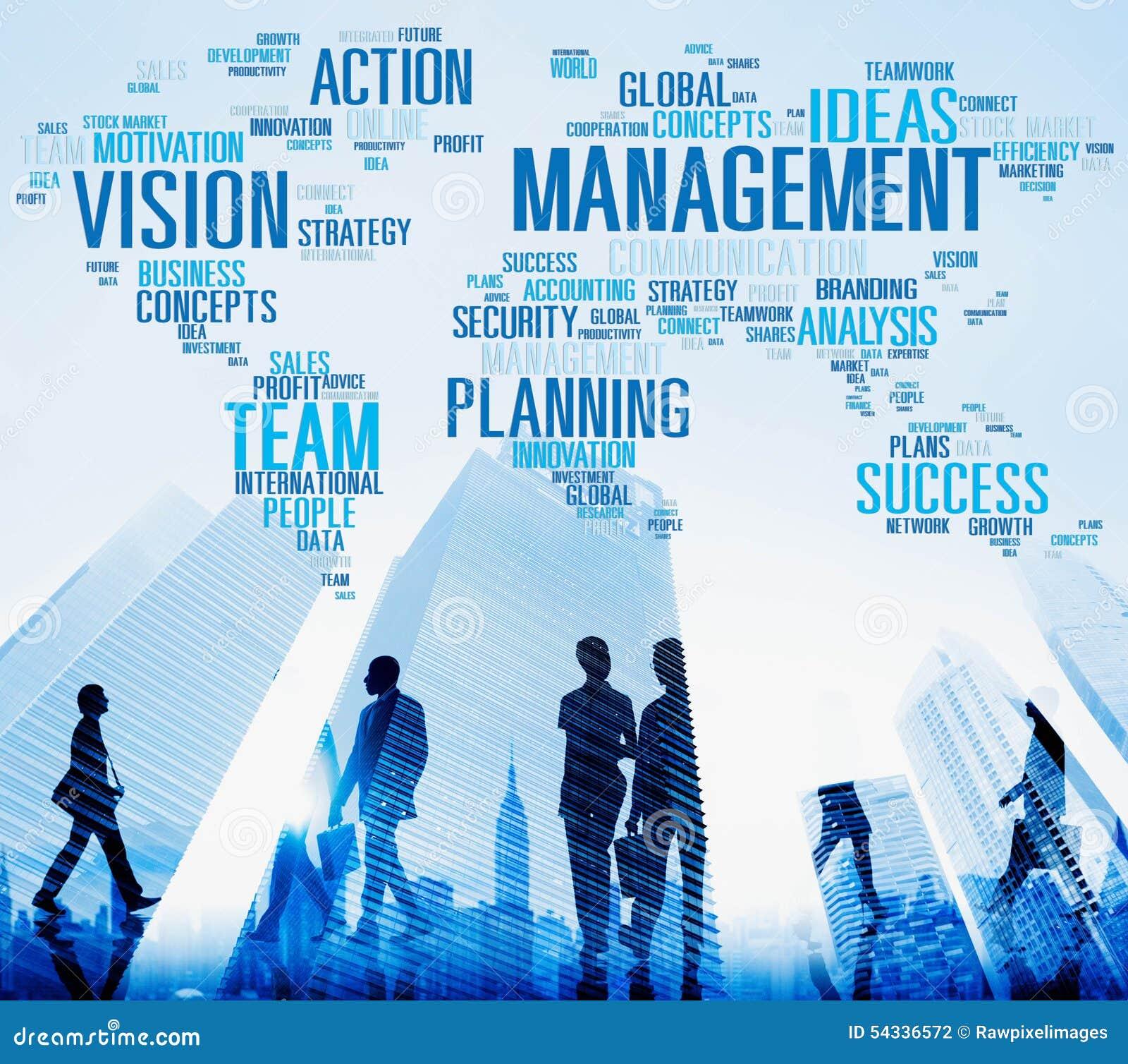 Management Vision Action Planning Success Team Business Concept ...