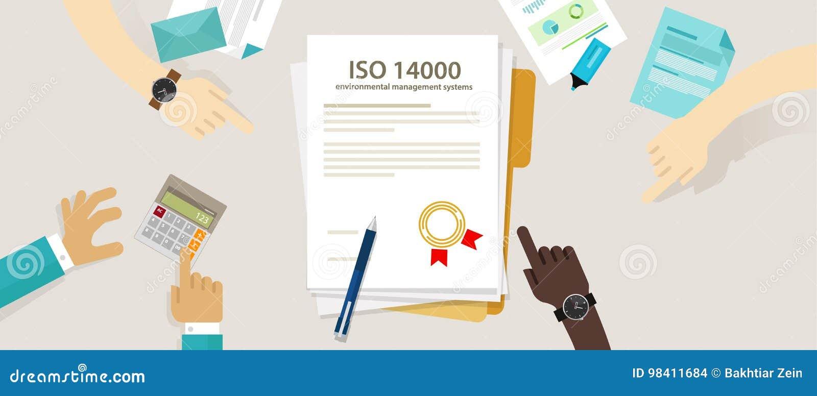 Managementumweltnorm-Geschäftsbefolgung ISO 14000 zum Rechnungsprüfungs-Kontrolldokument der internationalen Organisation Hand