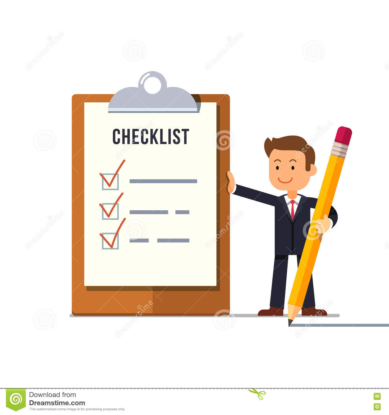 All The Tasks manager with all tasks done stock vector - illustration of