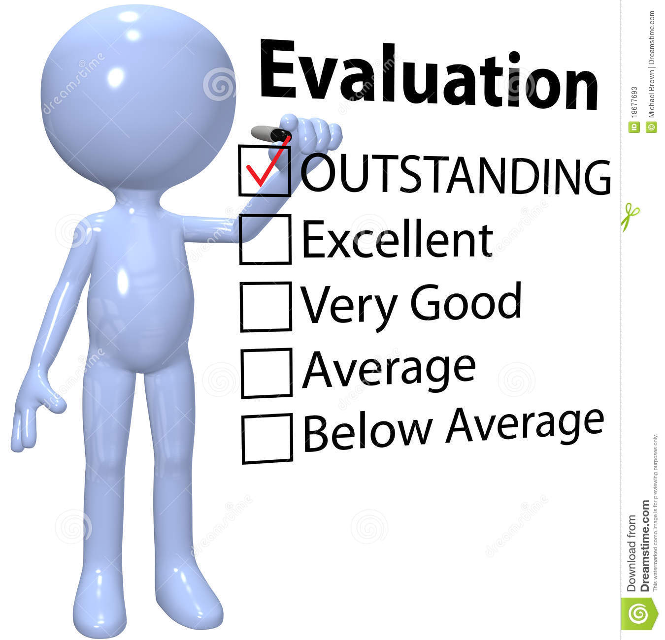 Manager check business quality evaluation report stock photos image