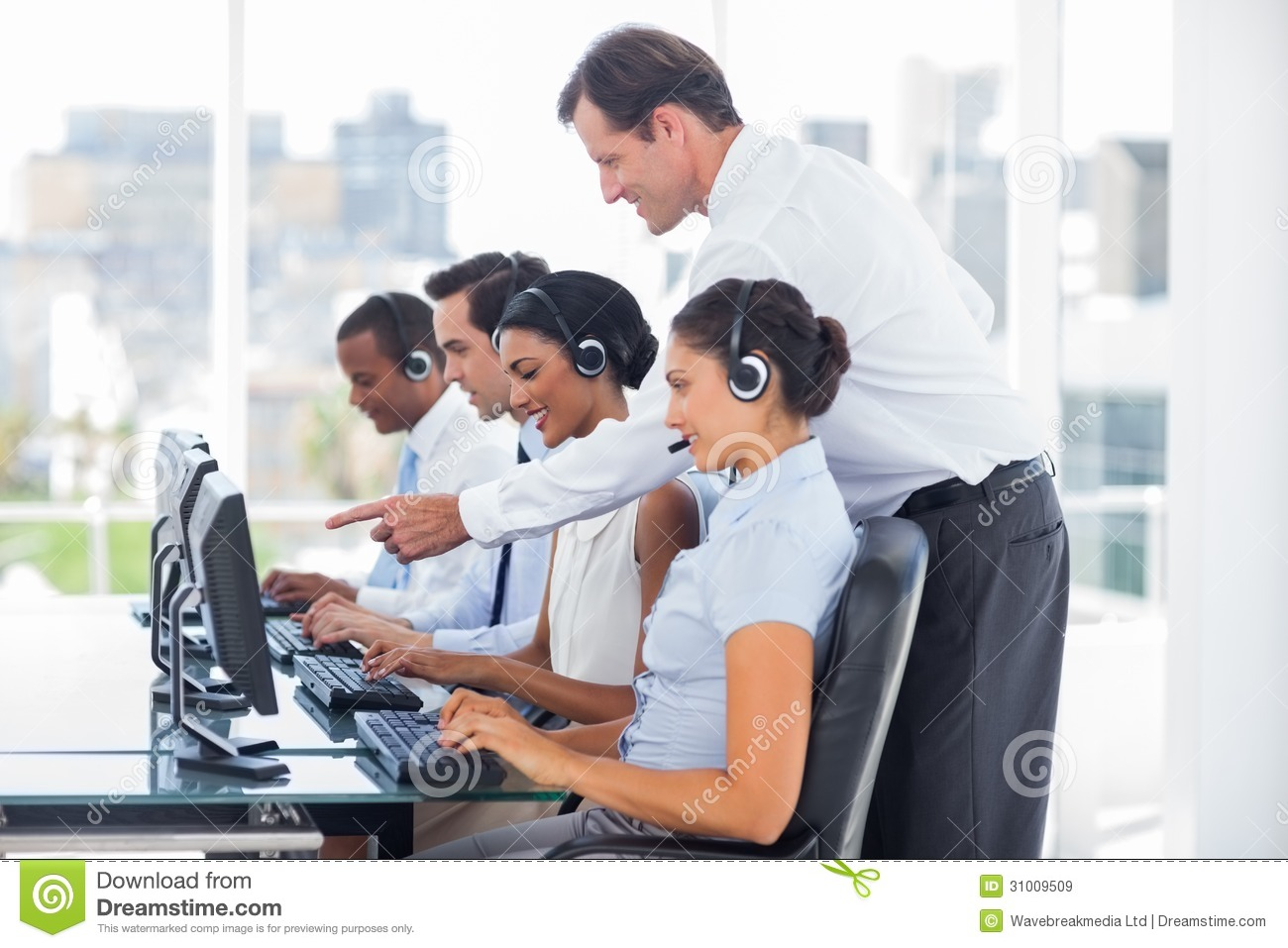 Manager Talking To His Employees Royalty Free Stock Images  Image
