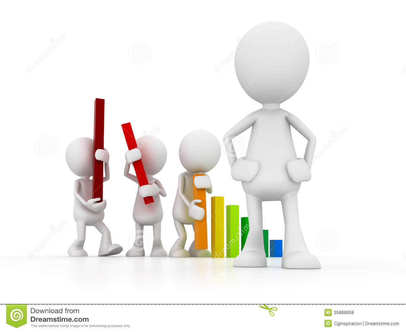 Manager and Team stock illustration. Image of graphic ...