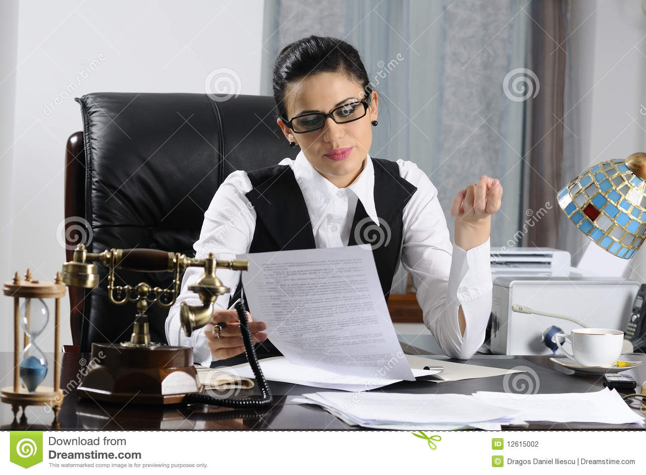 Manager Woman Working Stock Photography - Image: 12615002