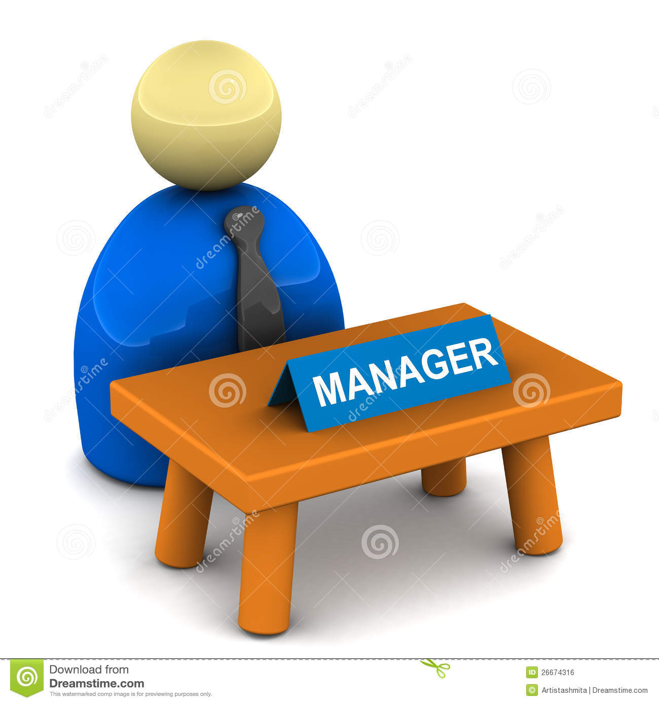 Managers Desk Royalty Free Stock Image - Image: 26674316