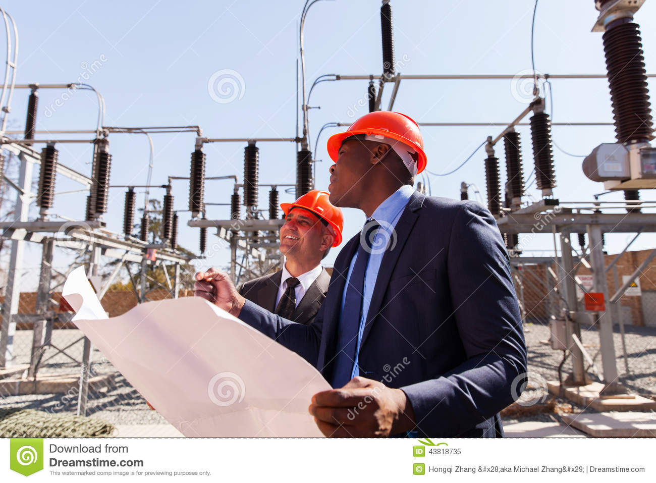 Managers Electric Substation Stock Photo Image 43818735