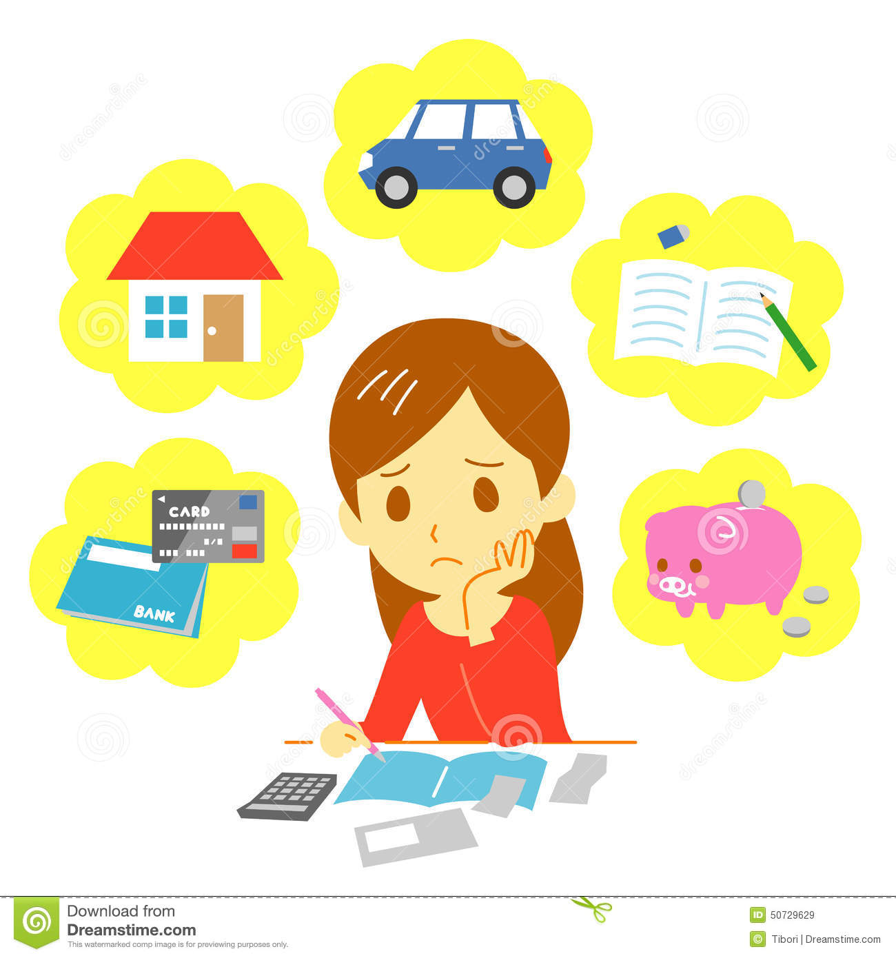 Managing Family Finances Expenditure Stock Vector Image