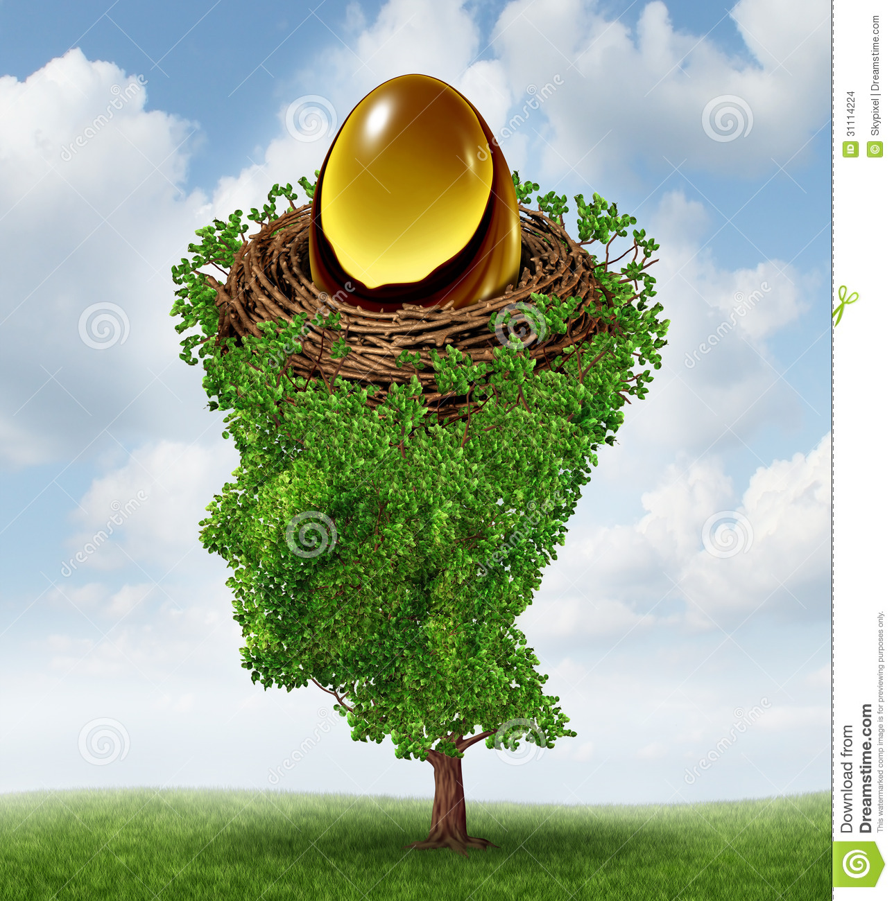 Finance Tree: Managing Your Nest Egg Stock Images
