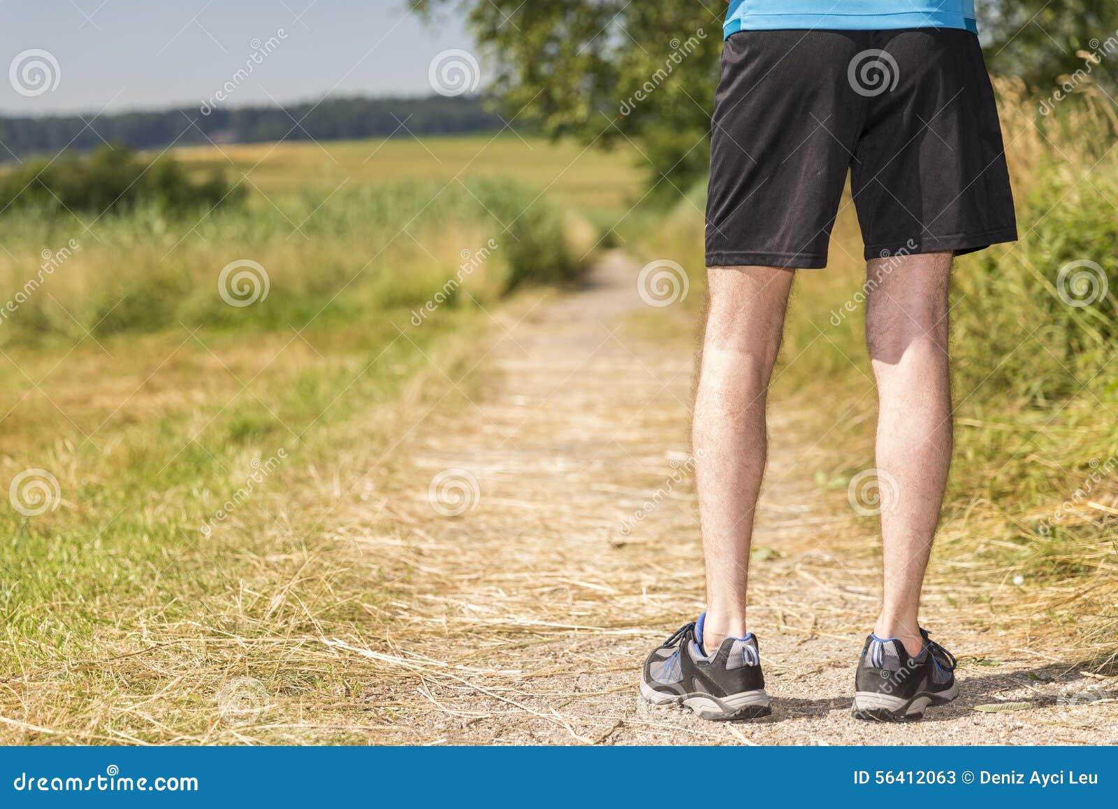 Mananseende i natur, innan att jogga