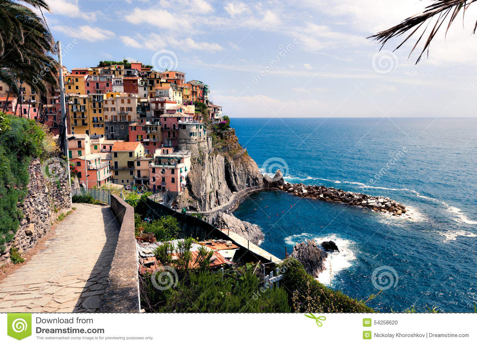 Manarola City Stock Photo Image Of Liguria Spezia Cinque