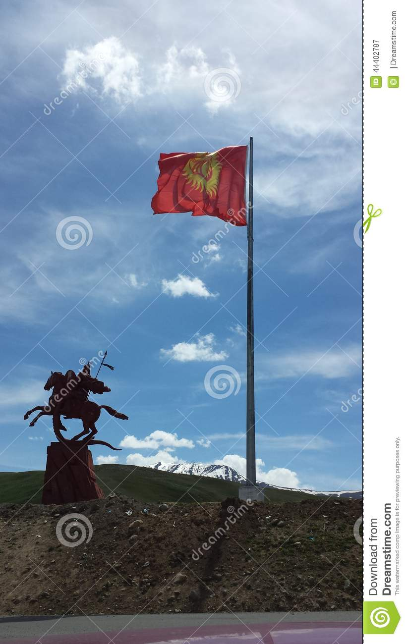 Manas Statue on a Mountain